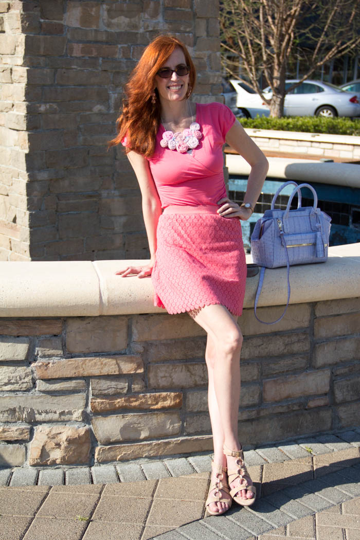 pink shades and crochet elegantly dressed and stylish