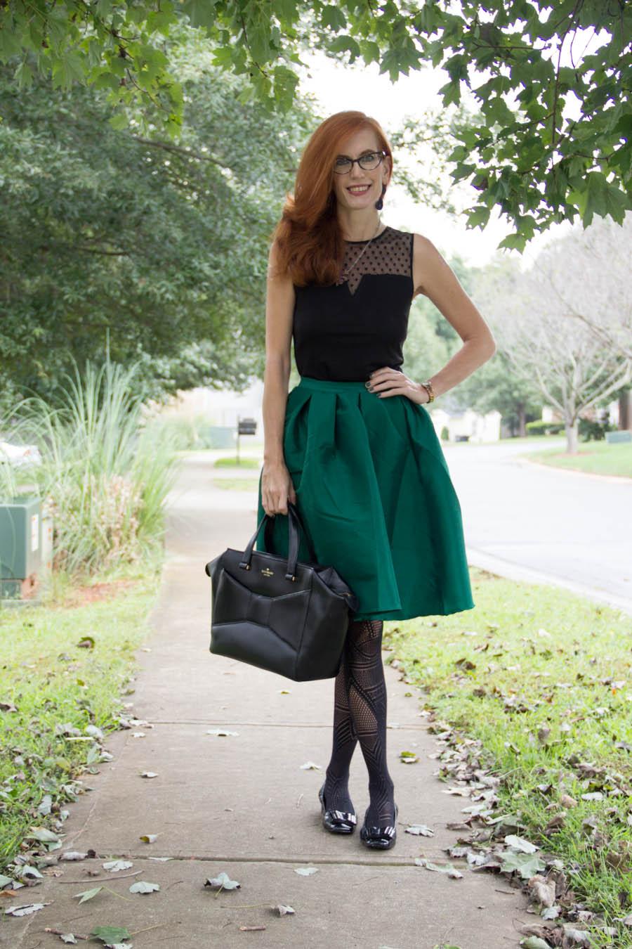 Emerald Midi Skirt - Elegantly Dressed & Stylish - Over 40 Fashion ...