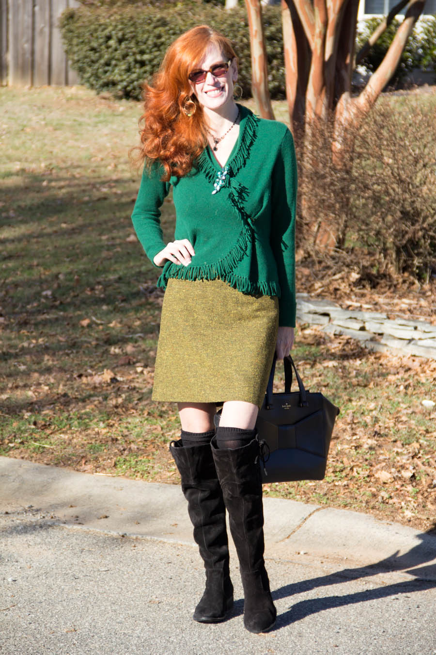 emerald cashmere sweater