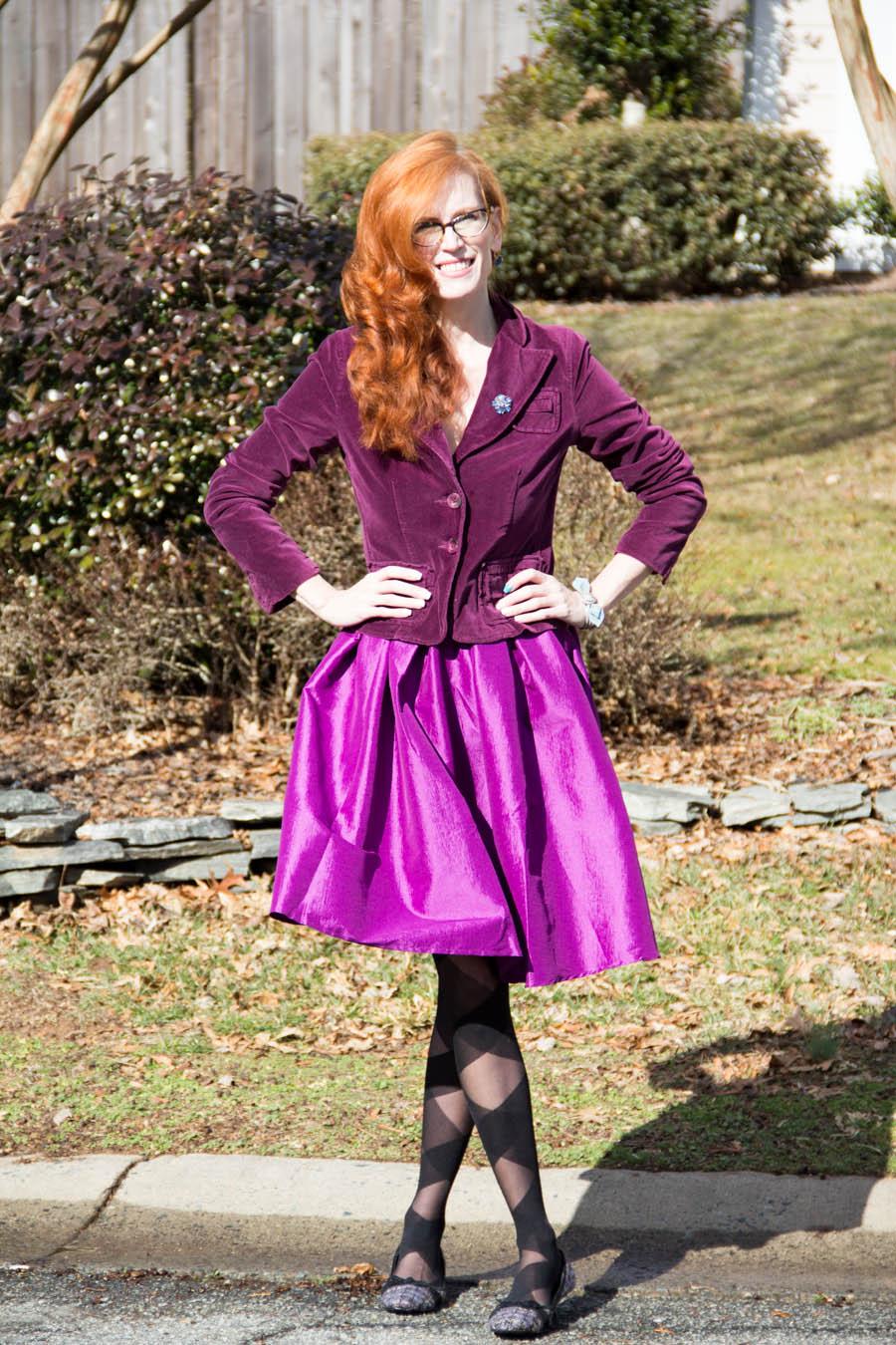 Velvet purple outfit
