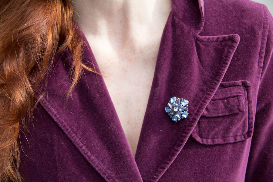 Blue brooch