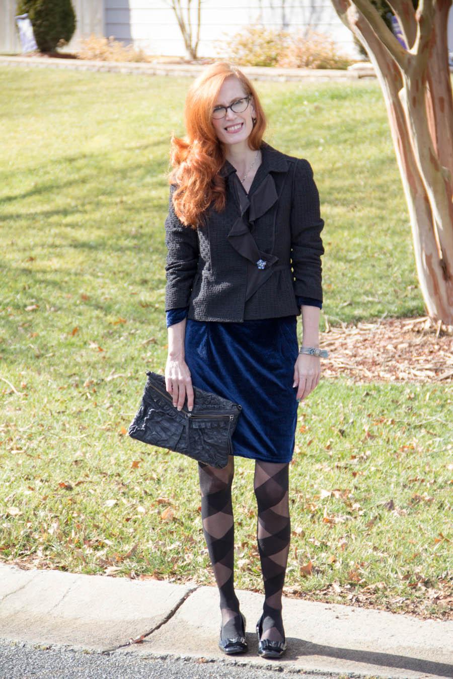 Blue Velvet , Chanel Like tweed jacket