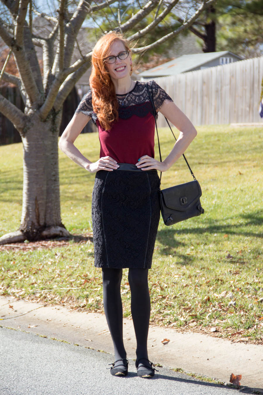 Lace Ann Taylor styled outfit