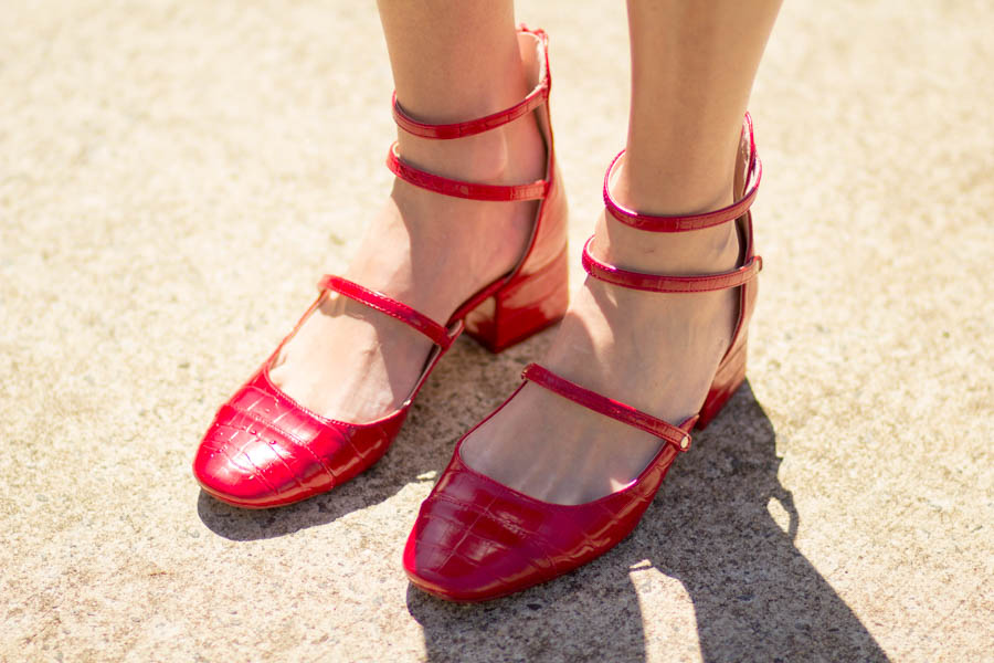My Refined Style Linkup #7- The Power of Red- Block Heels and a ...
