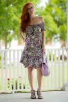 Turning Heads #Linkup- Trending Off the Shoulder Floral Dress