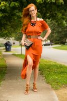 Turning Heads #linkup -Rust Maxi Off The Shoulder Dress with Metallics