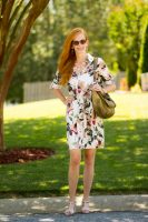 Turning Heads #Linkup Zara Floral Safari Shirtdress-Tips on Wearing the Shirtdress