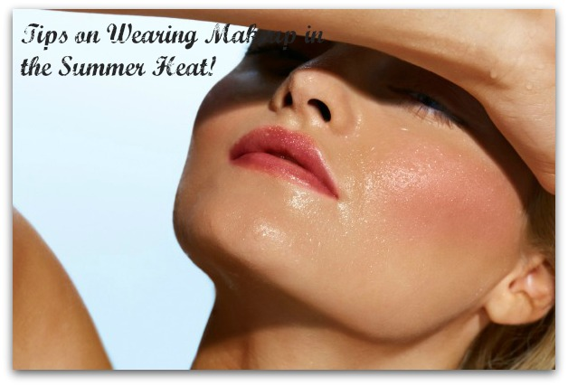 Woman with damp face covering from sun.