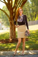 Mixing Textures: Jacquard and Tweed- Brown and Camel Styled for Fall