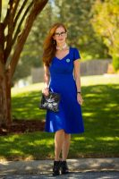 My Refined Style Linkup #13- My Collaboration with Karina Dresses- Cobalt Blue with The Trudy Style+GIVEAWAY