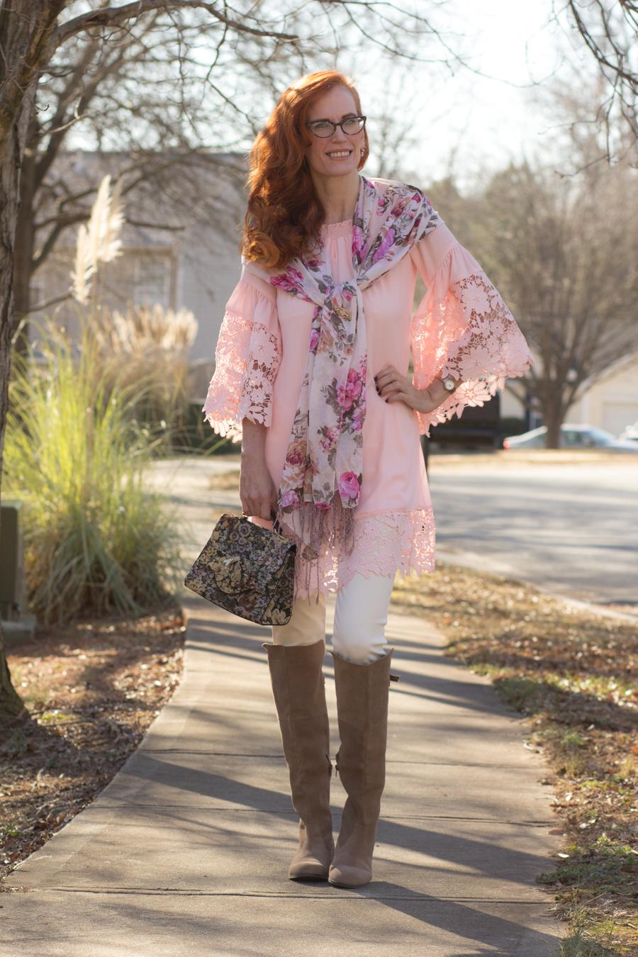 92a65b091e0 Joseph Ribkoff – 1ereAvenue – Spring '18 Tunic/Dress Styled for Winter