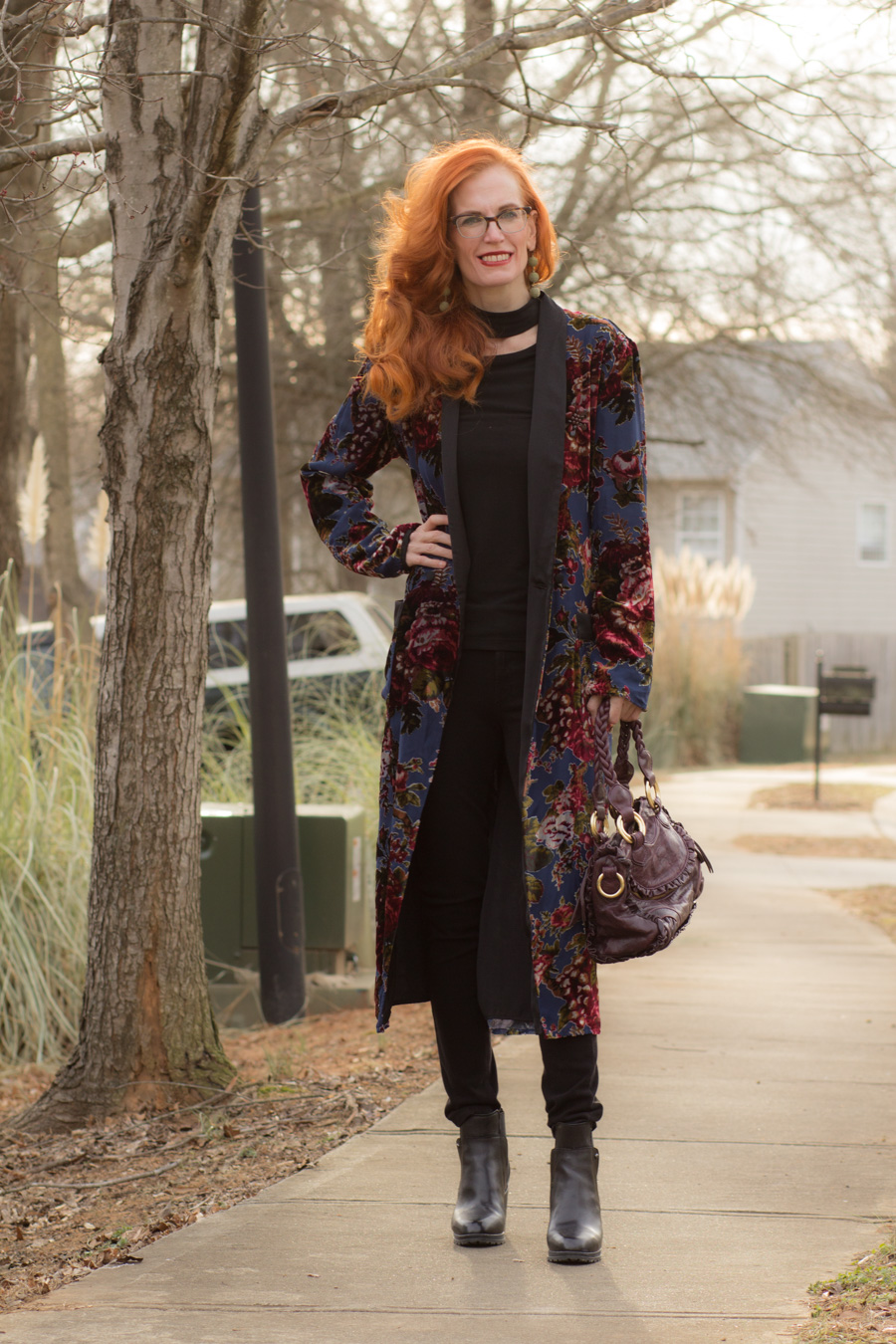 62c54ef53 Turning Heads Linkup-Rock and Roll Style with My Zara Velvet Kimono ...