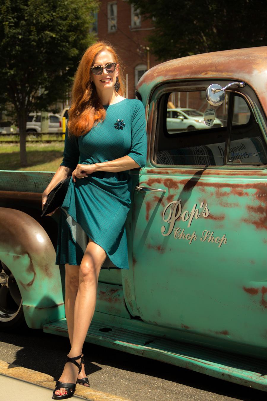Turning Heads Linkup - Karina Dresses -Vintage Trucks and