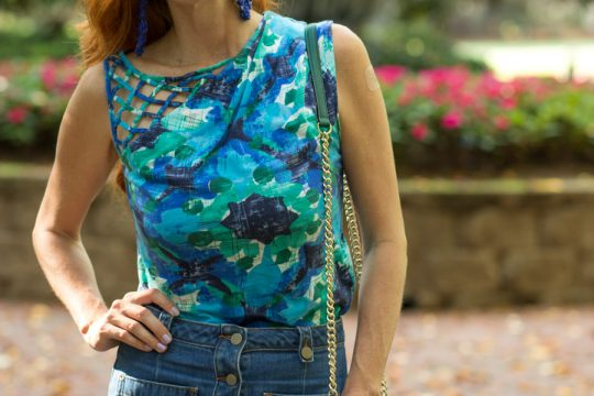 IMG 9346 2 540x360 - Turning Heads Linkup- Retro- fashion Jean Skirt with  Anthropologie Prime