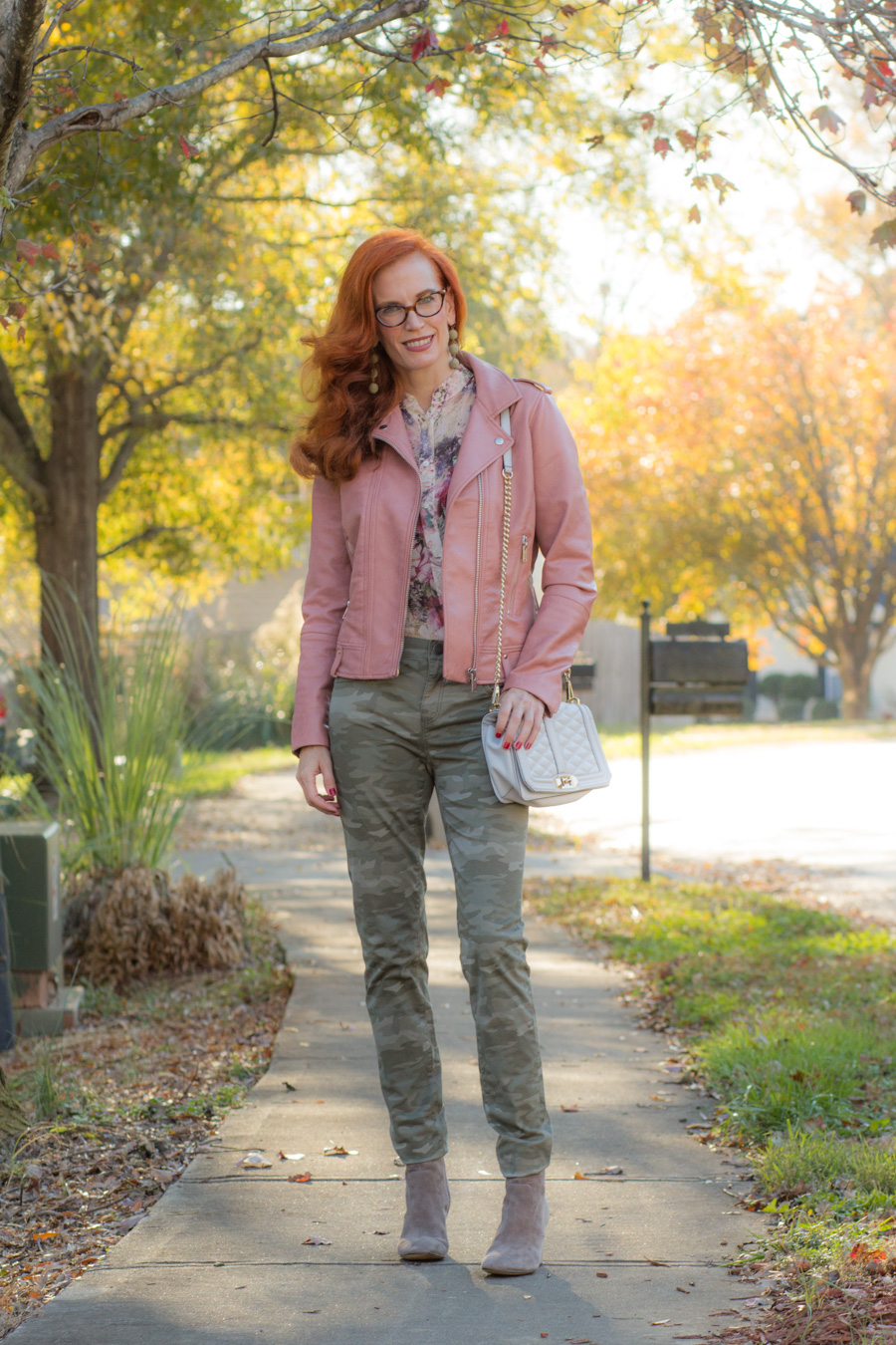 Camo, Floral and a Moto Jacket – Mixing Patterns