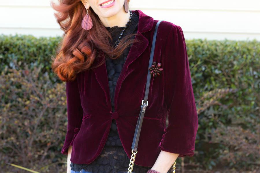 women;s velvet blazer