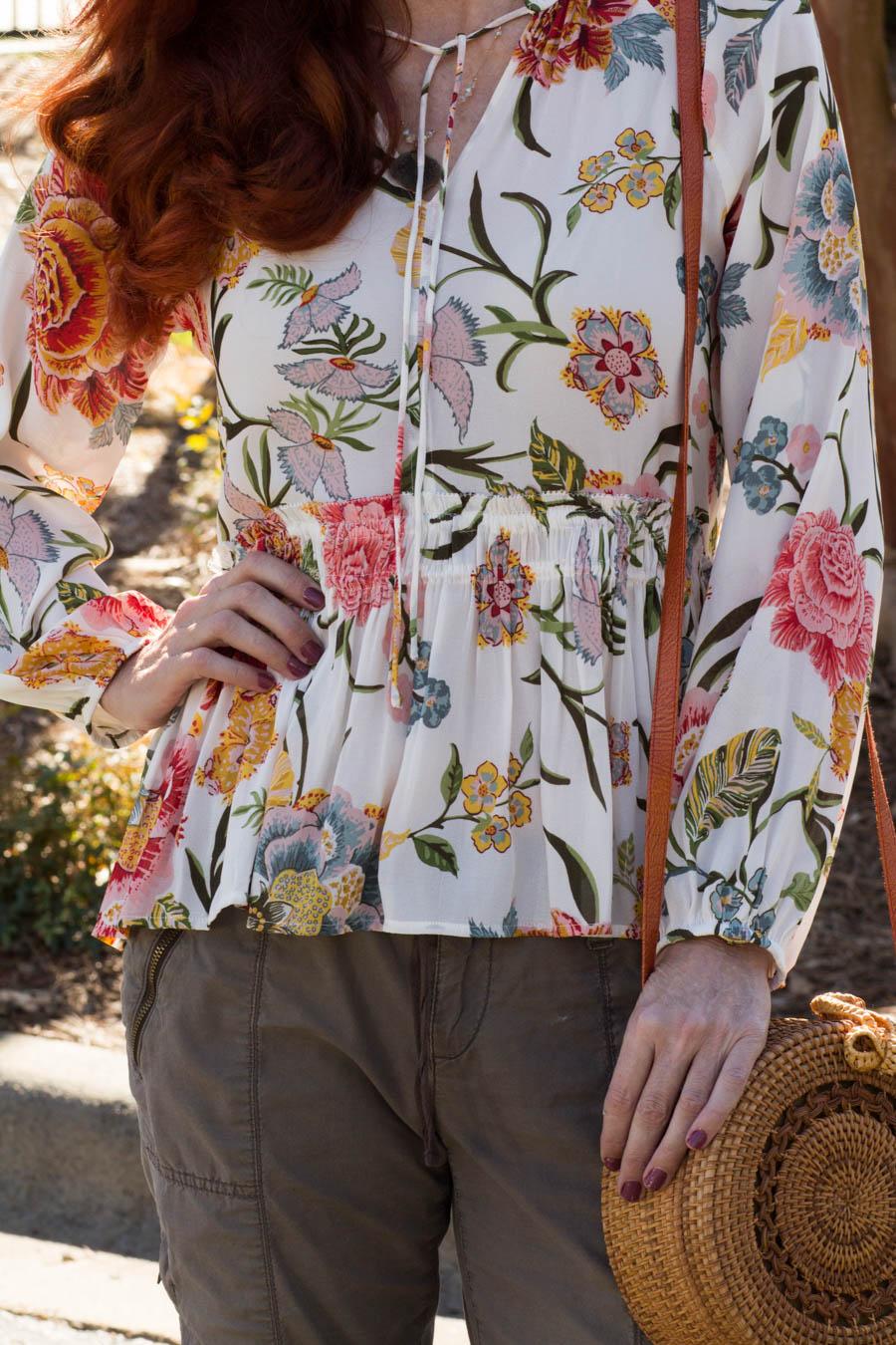 Spring floral top