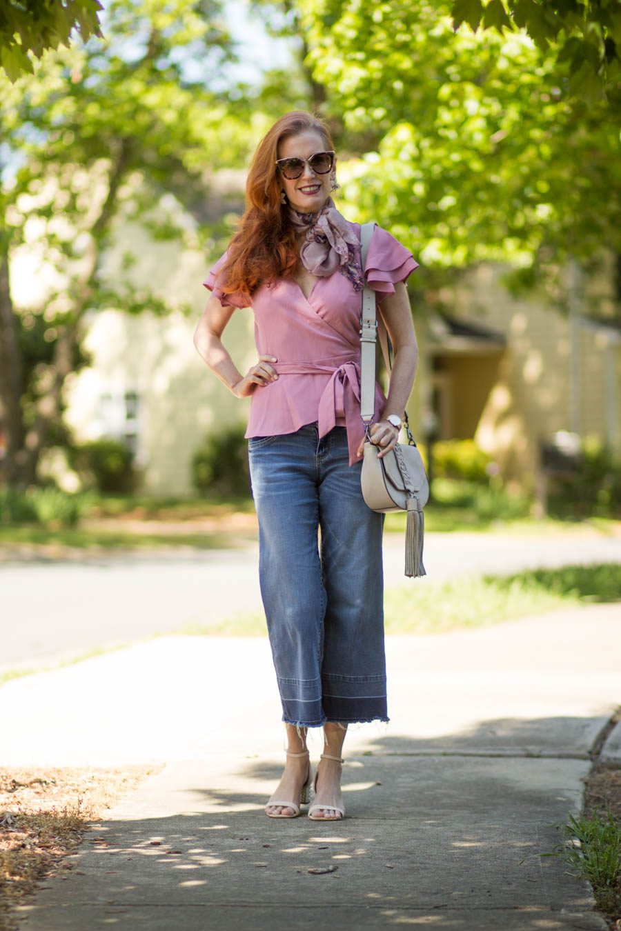 Target ruffled blouse