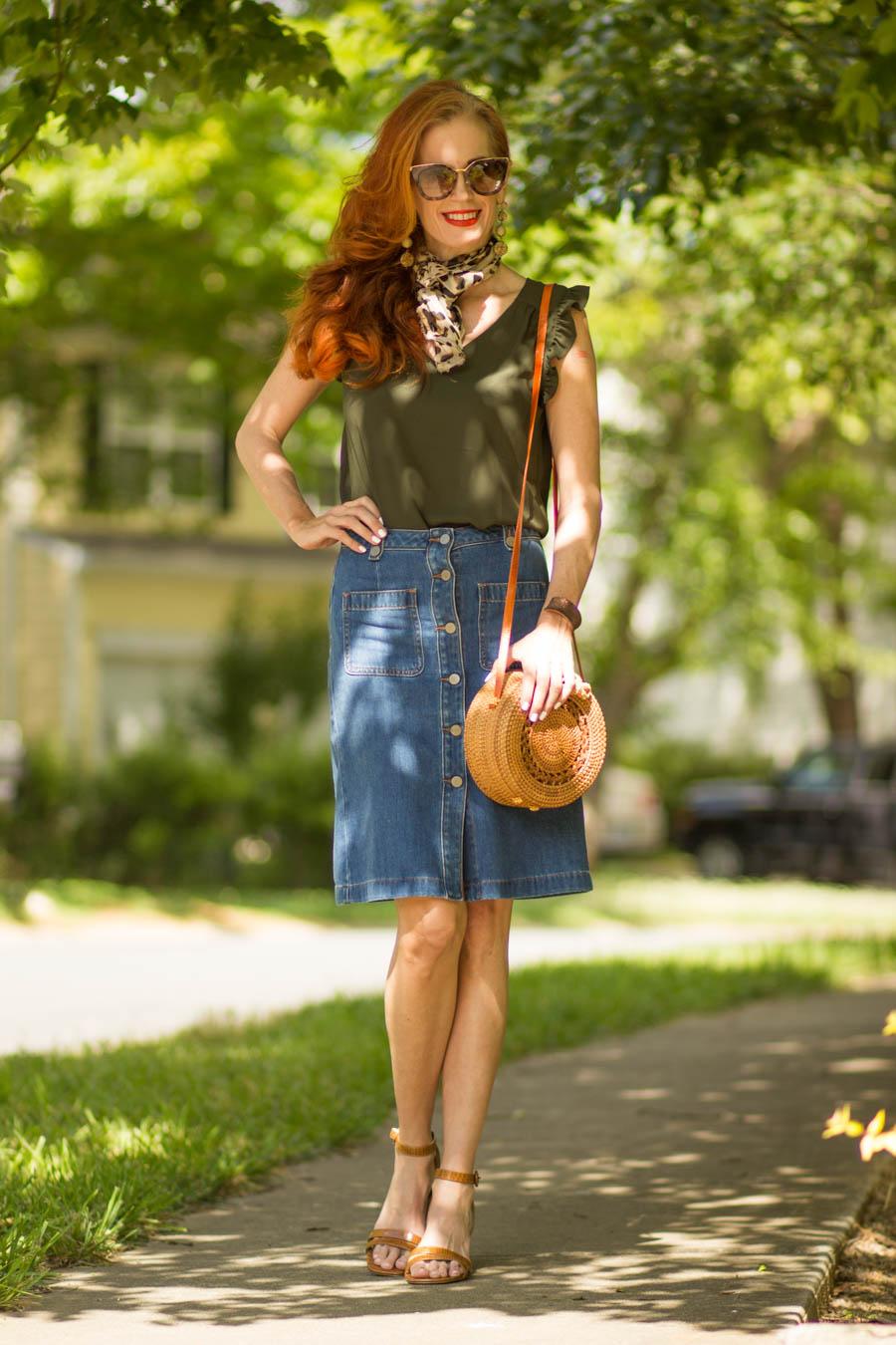 Loft olive blouse