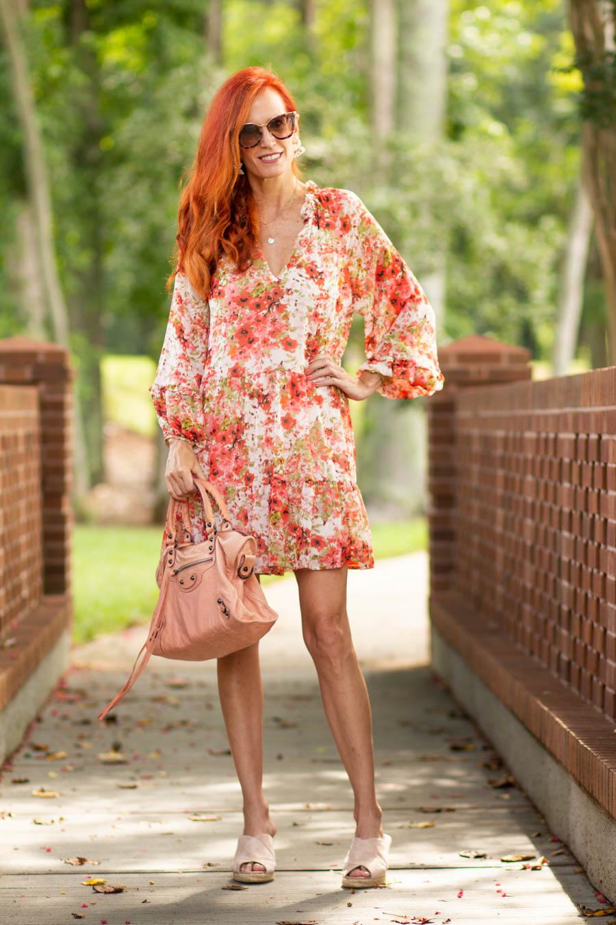 Floral women's dress