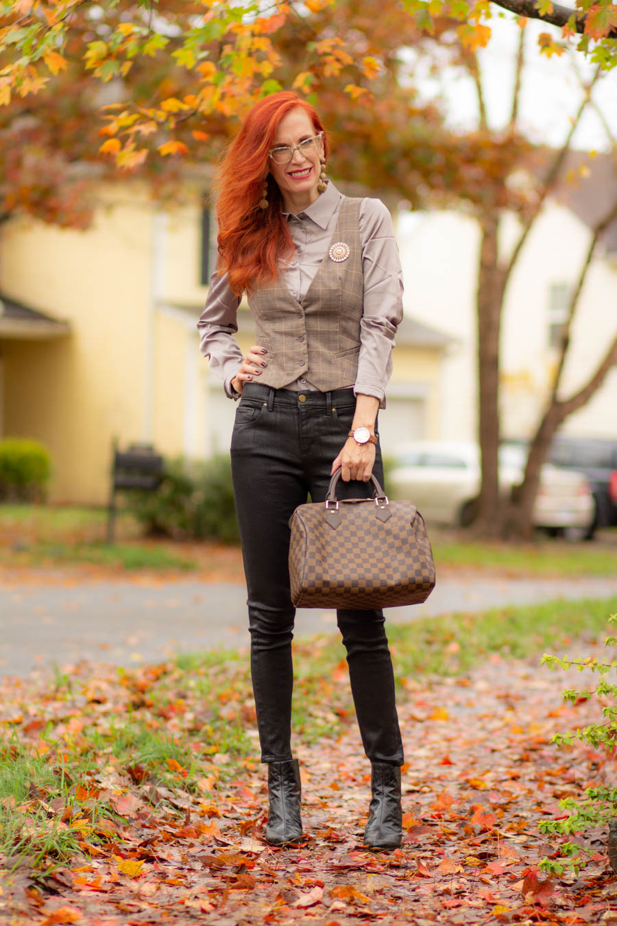 Women's menswear look