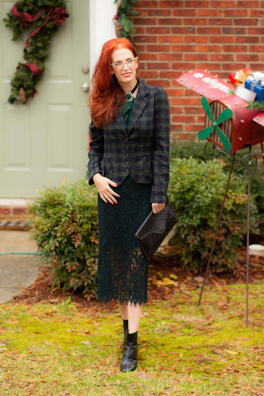 Holiday look in plaid