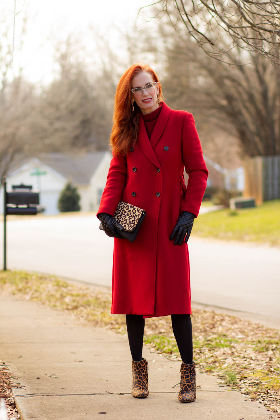 Women's Mango red wool coat