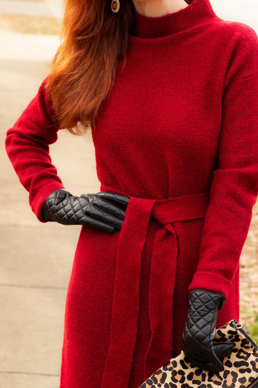 Target women's red sweater dress
