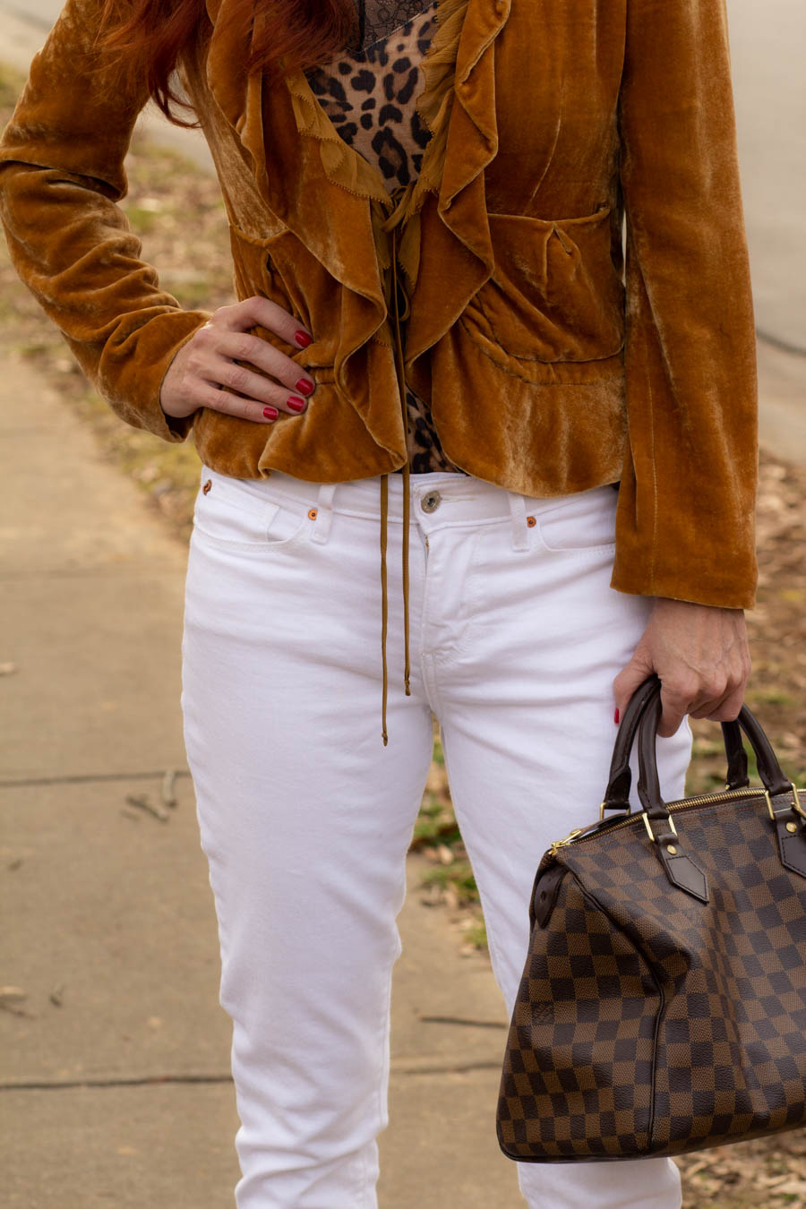 Neutrals and white jeans
