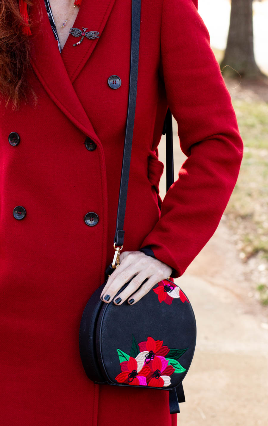 Valentine's Day red coat