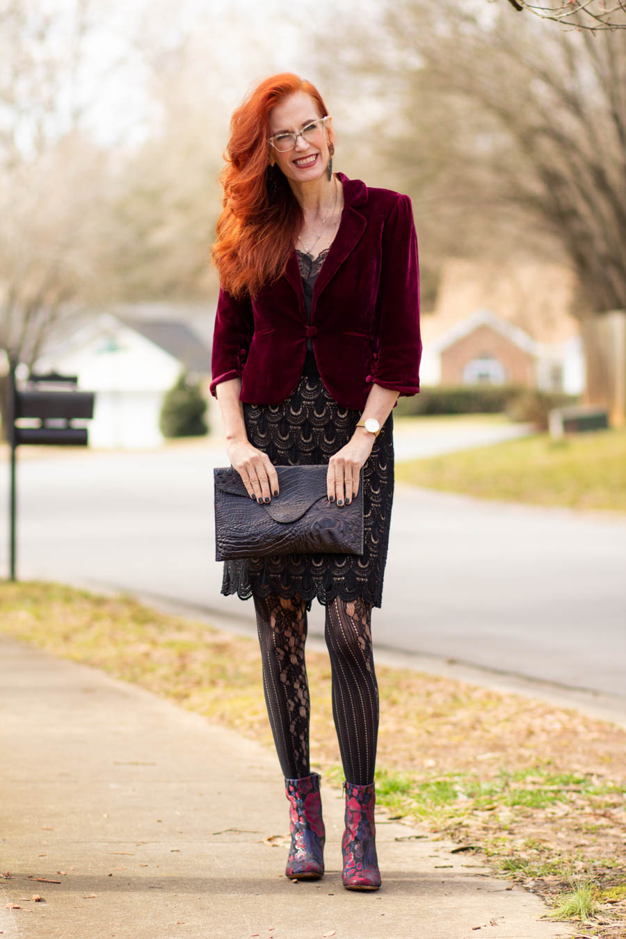 A dressy Valentine's Day look