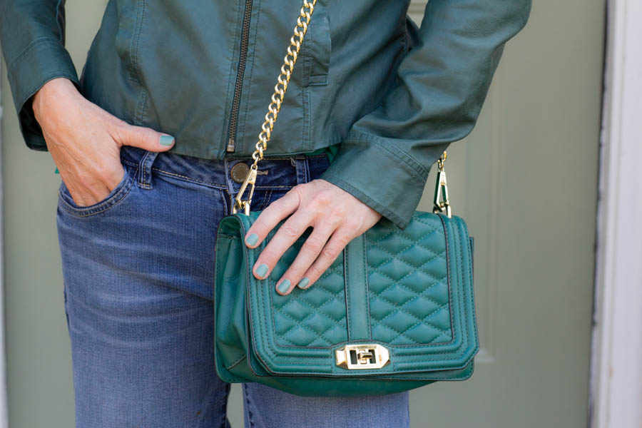 Green Rebecca Minkoff bag