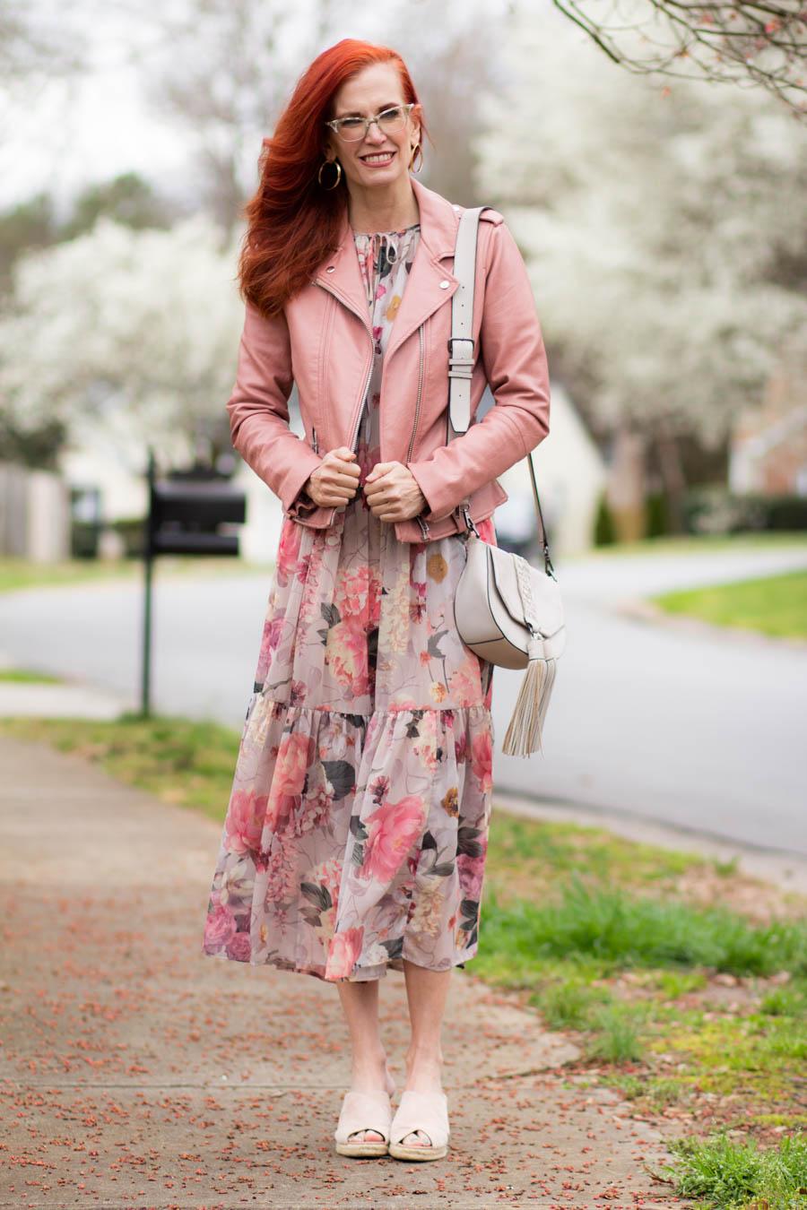 Floral midi dress for Spring