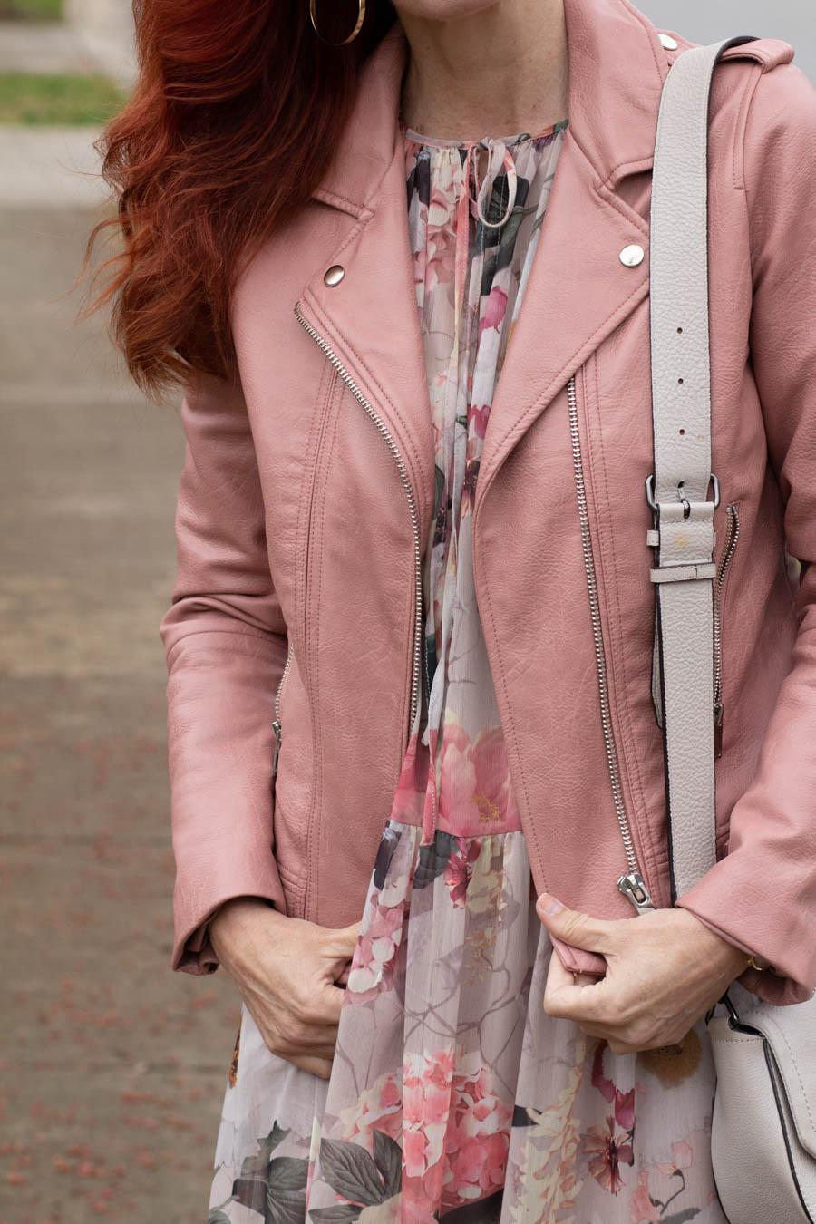Pink moto jacket