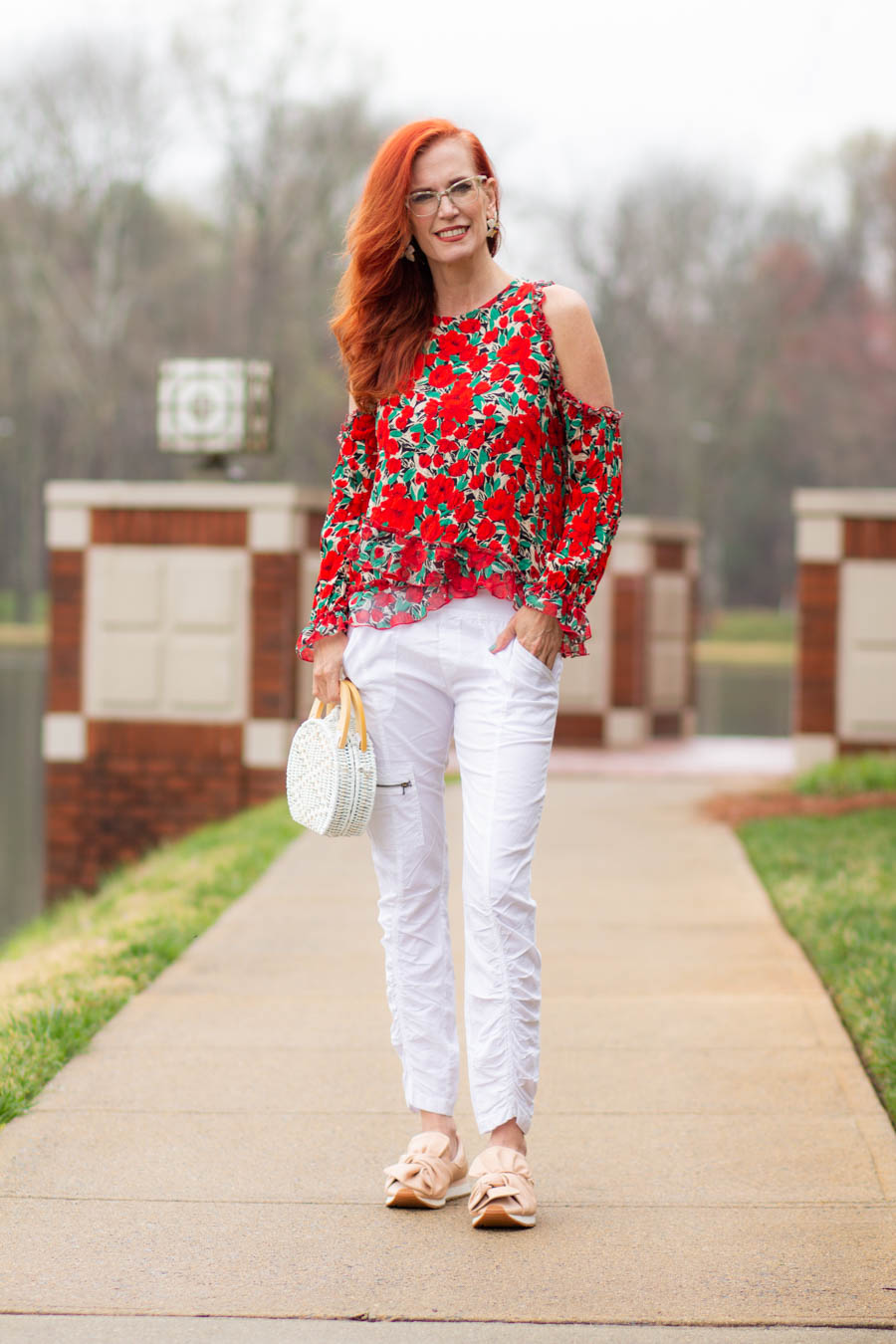 XCVI Malanda pant styled with floral top