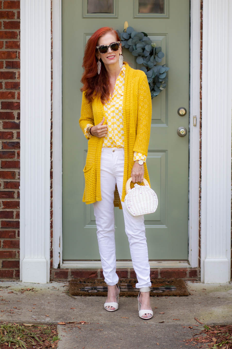 Yellow and white outfit for Spring