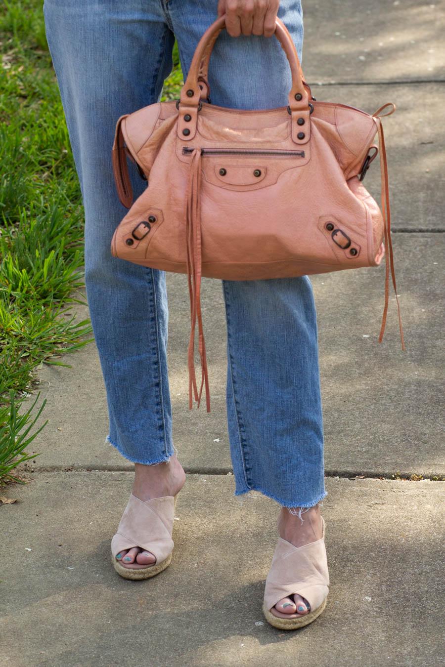 Balenciaga bag with light denim