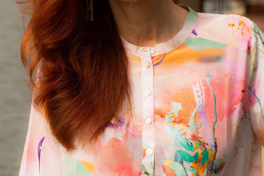 Caite and Kyla watercolor tunic
