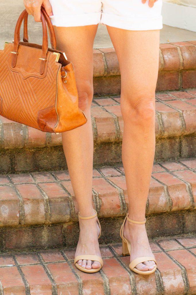 Sarah flint block nude sandals