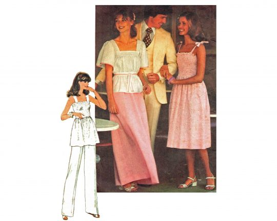 1970's shirred style