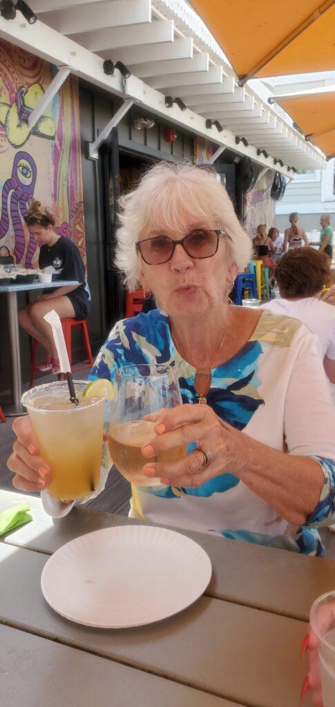 Mom drinking margarita