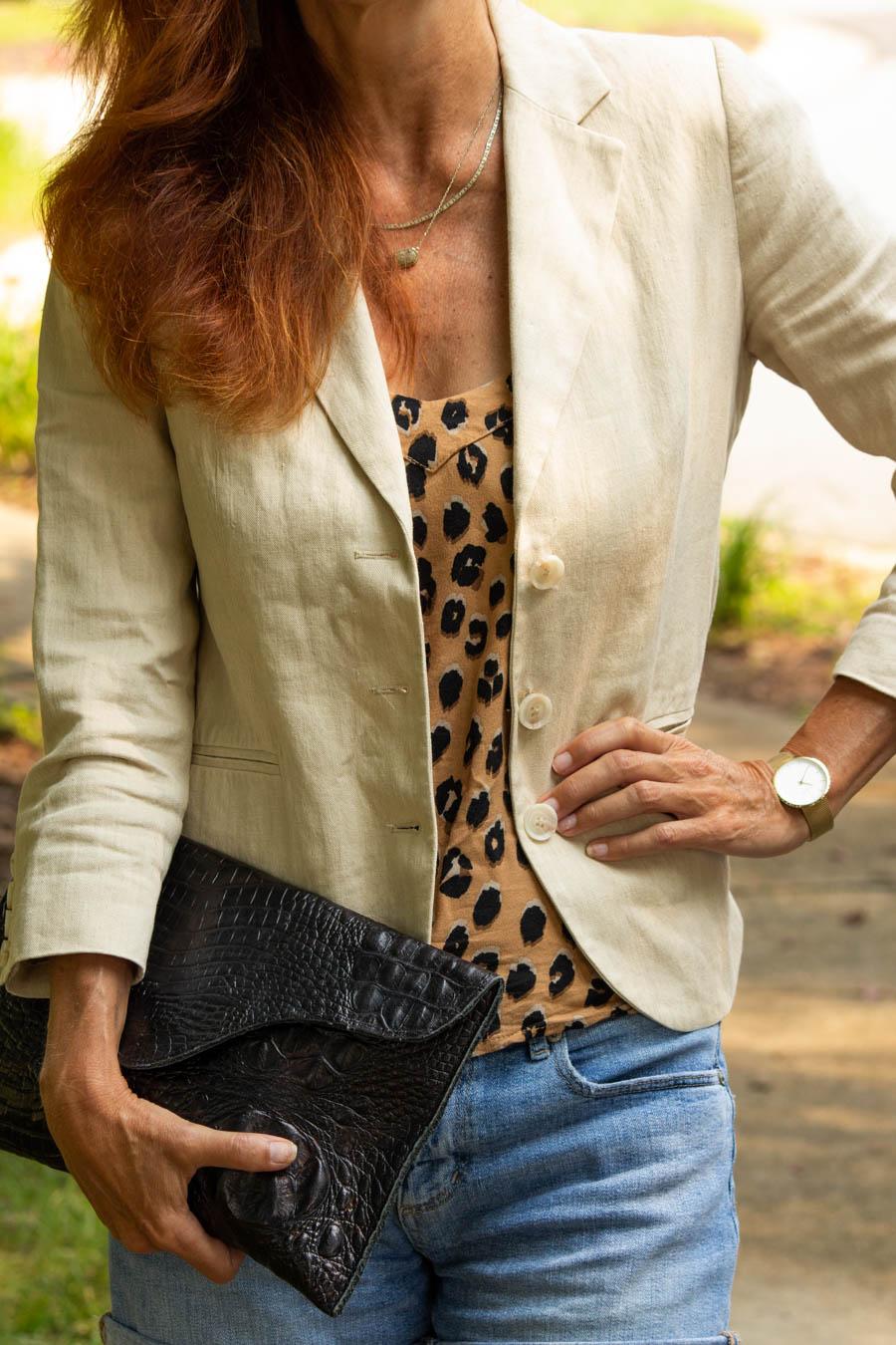 Women's linen blazer