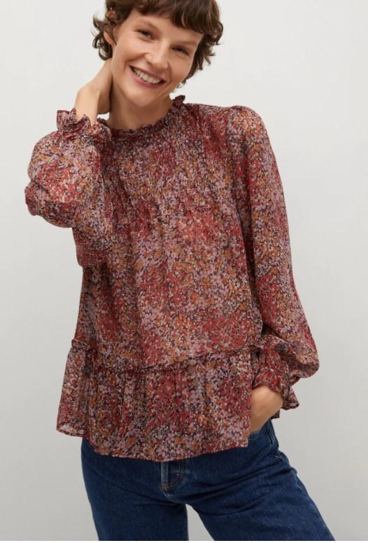 Mango fall blouse
