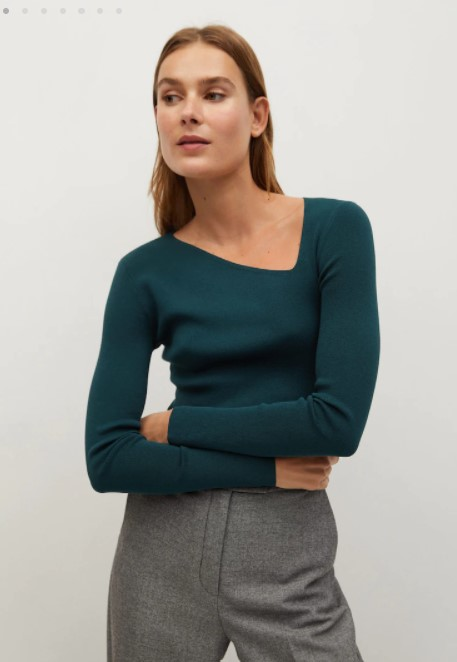 Mango asymmetric sweater