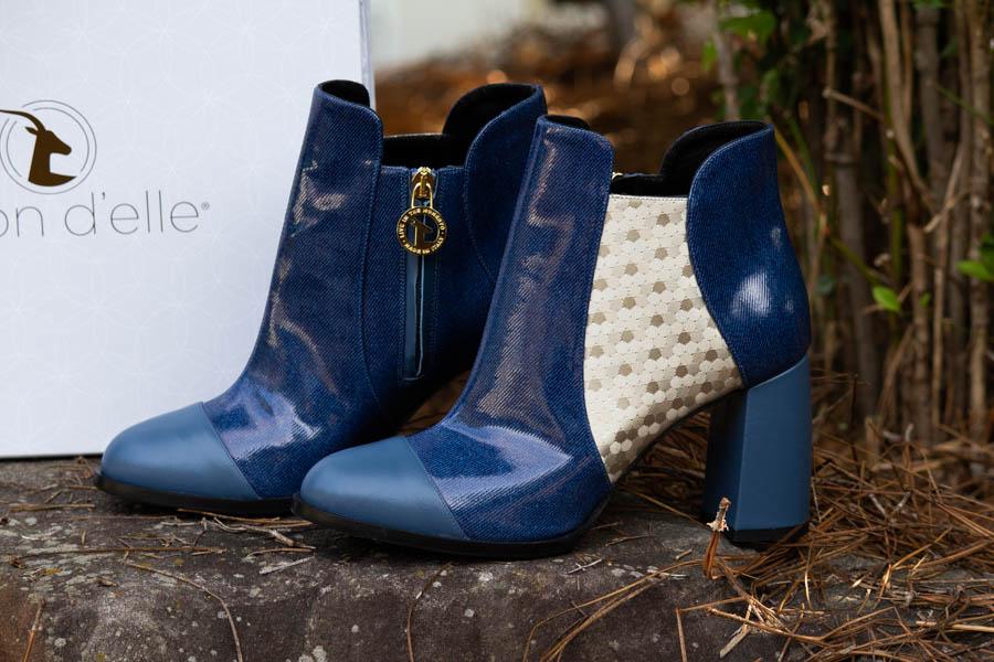 moon d'elle Luxury Leather Italian boots