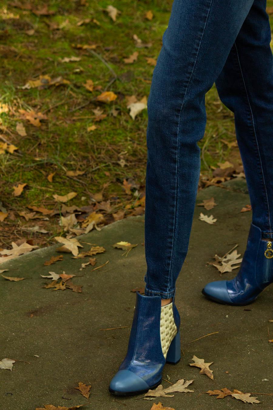 moon d'elle Luxury Italian boots with straight leg jeans